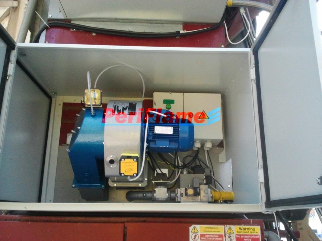 Specialized MD-burner designed for  Mathews Grain Dryers